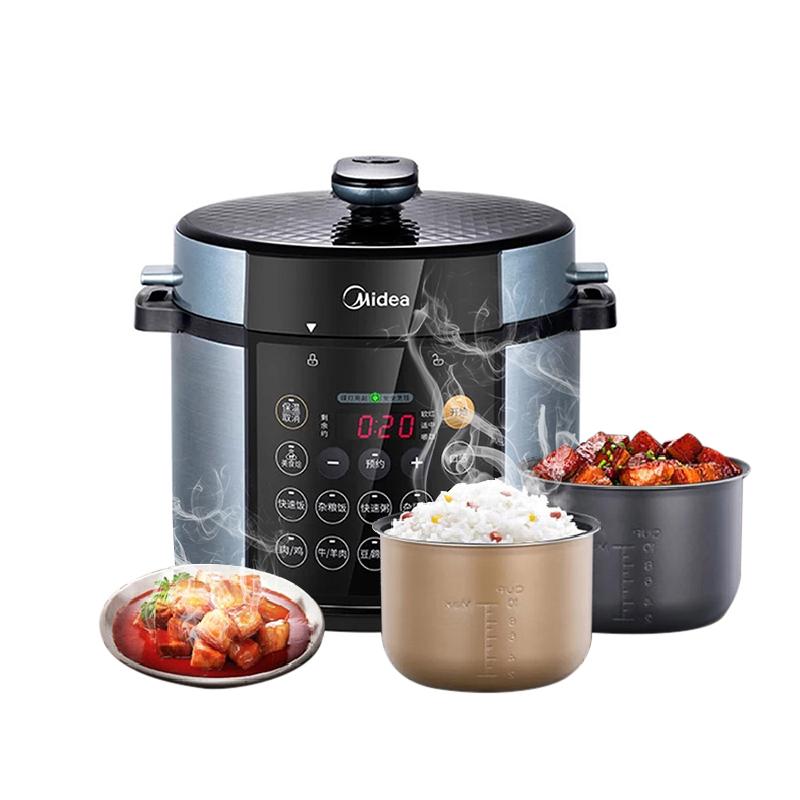美的(Midea)MY-YL50Simple107 雙膽4.8L家用智能電高壓飯煲電壓力鍋
