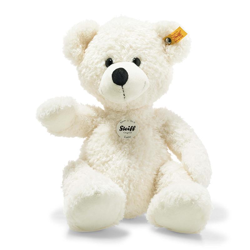 德国Steiff毛绒玩具Lotte泰迪熊白色 40cm 4001505111778