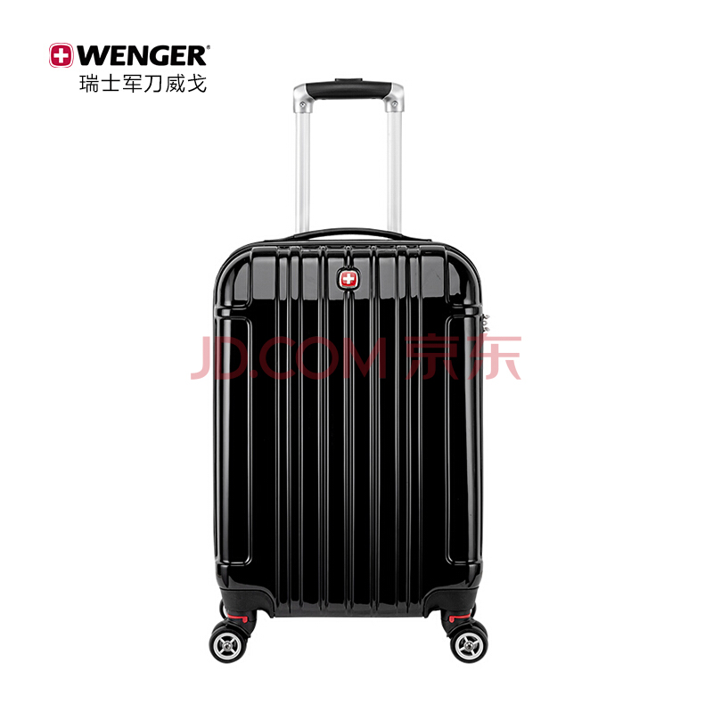 瑞士军刀威戈(WENGER)20英寸可扩展登机箱 简约商务拉杆箱旅行箱男女 黑色(SAX526117109057),威戈(WENGER)
