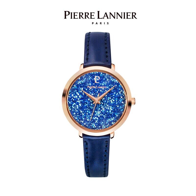 法国进口女士满天星手表 施华洛世奇星钻系列29mm水晶表盘小众石英女表PL-105J966