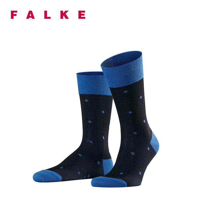 FALKE波点彩色袜吸汗四季透气时尚潮进口Dot中筒袜男13269
