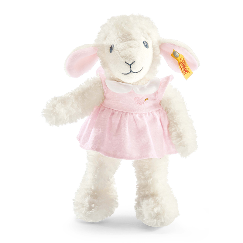 德国Steiff毛绒玩具甜梦羔羊粉色衣服 28cm 4001505239625