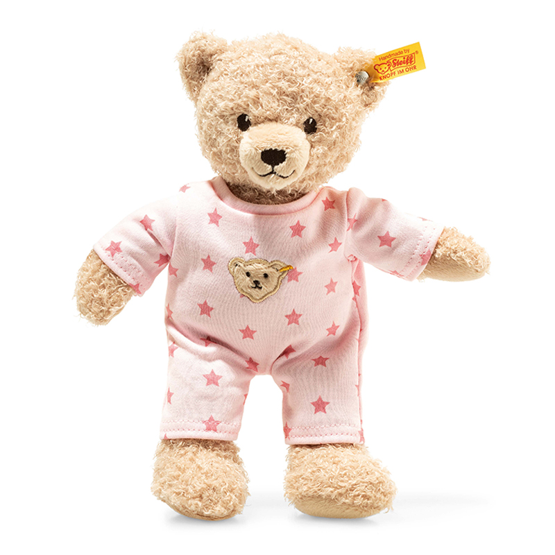 德国Steiff毛绒玩具Baby泰迪熊粉色衣服 25cm 4001505241659