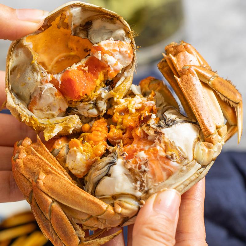 新孟河大閘蟹 29年養蟹 出口好品質 禮卡提貨券 大閘蟹禮卡3.2母4.5公8只裝