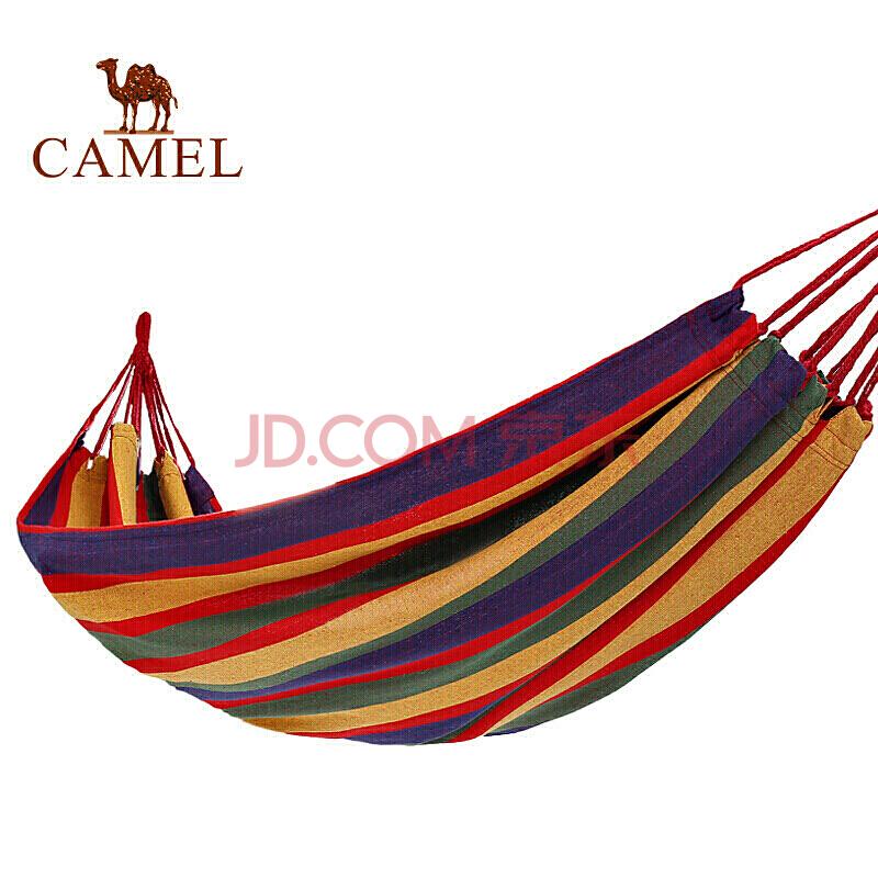 骆驼户外吊床 户外野营宿舍公园成人防侧翻吊床秋千 8W3ASY011 蓝色彩条(190*80),骆驼(CAMEL)