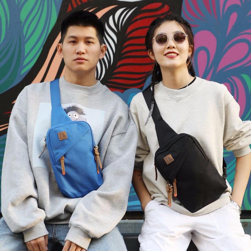 Inuk纯色系列男女斜跨单肩包胸包 3色可选