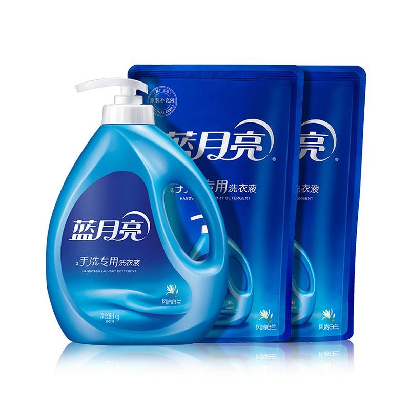 蓝月亮手洗专用洗衣液 1kg手洗瓶*1+1kg手洗袋*2