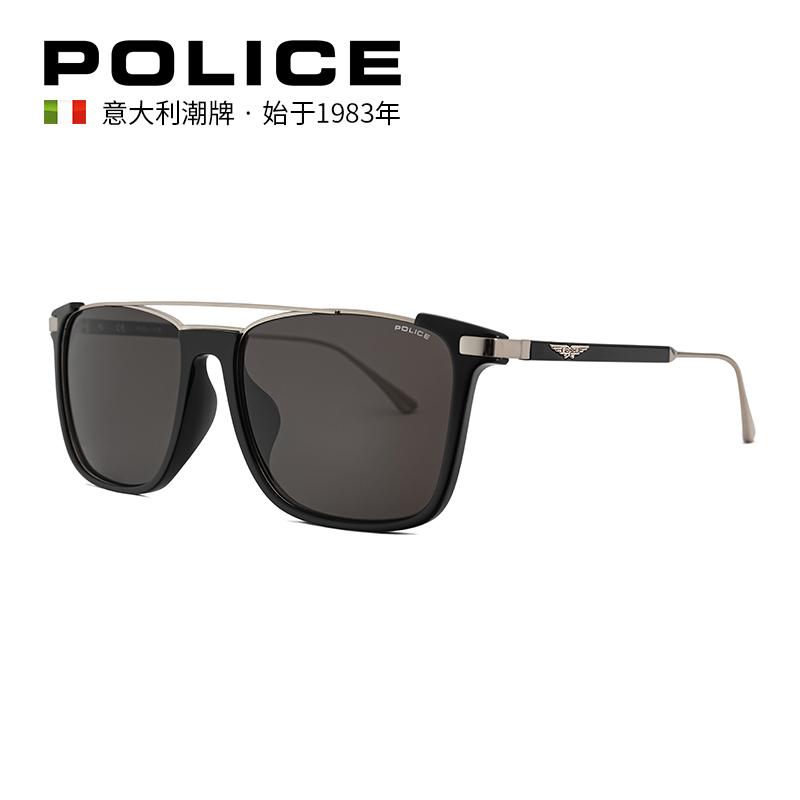 意大利POLICE太阳眼镜时尚金属墨镜SPLA37J