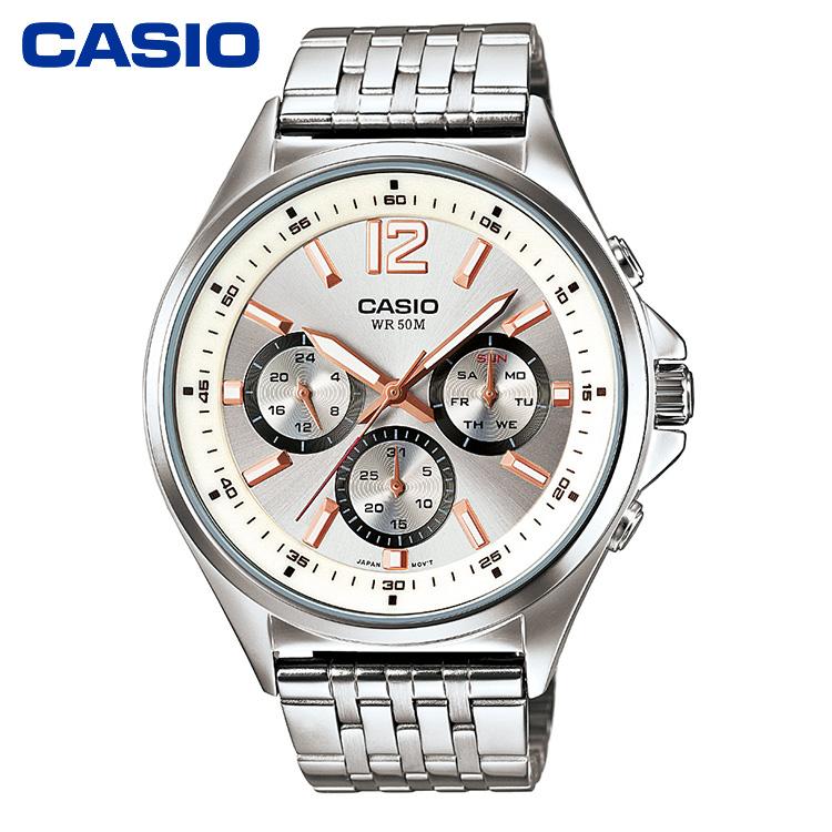 CASIO卡西欧MTP-E303系列简约时尚潮流商务男士手表