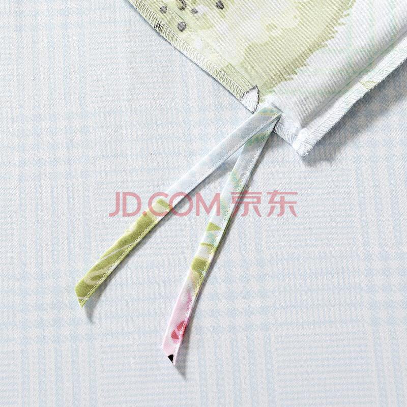 富安娜出品 圣之花三件套 磨毛套件床单被套 单人学生宿舍床上用品 花漾情怀 绿色1.2m(152*210cm),富安娜(FUANNA)