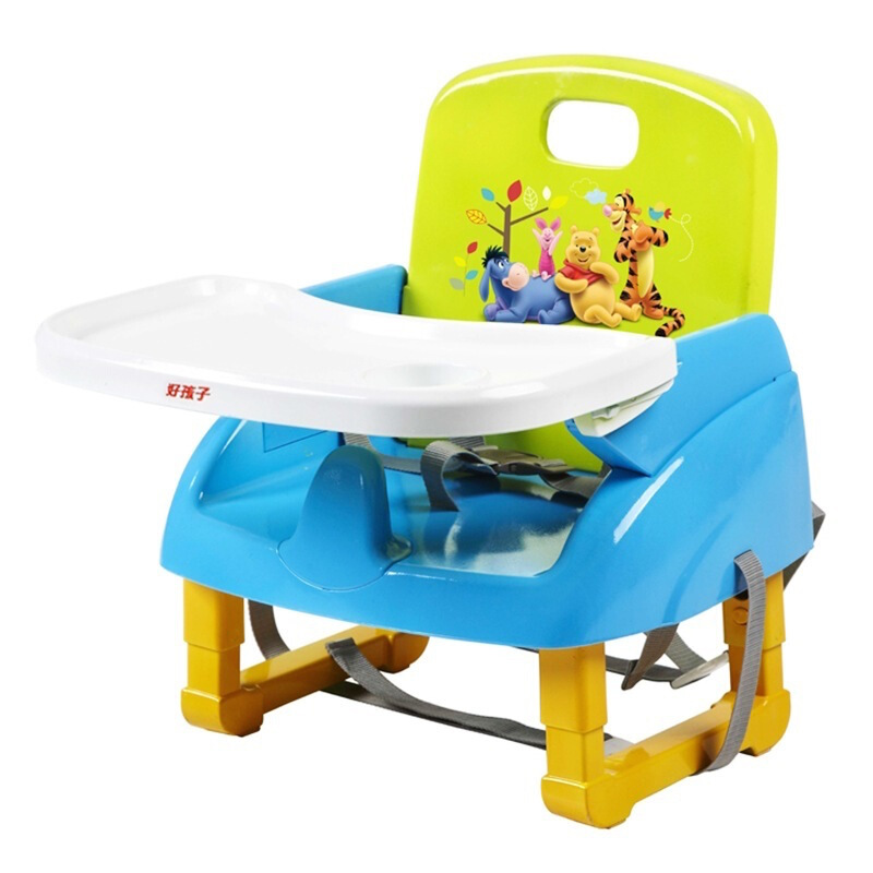 gb好孩子 儿童餐椅 便携式多功能可调节增高宝宝餐椅 ZG20-W-L233BG