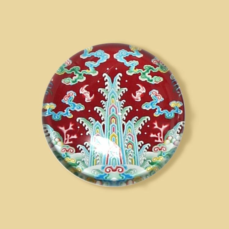 宮廷紋飾冰箱貼-五彩海水江崖紋飾