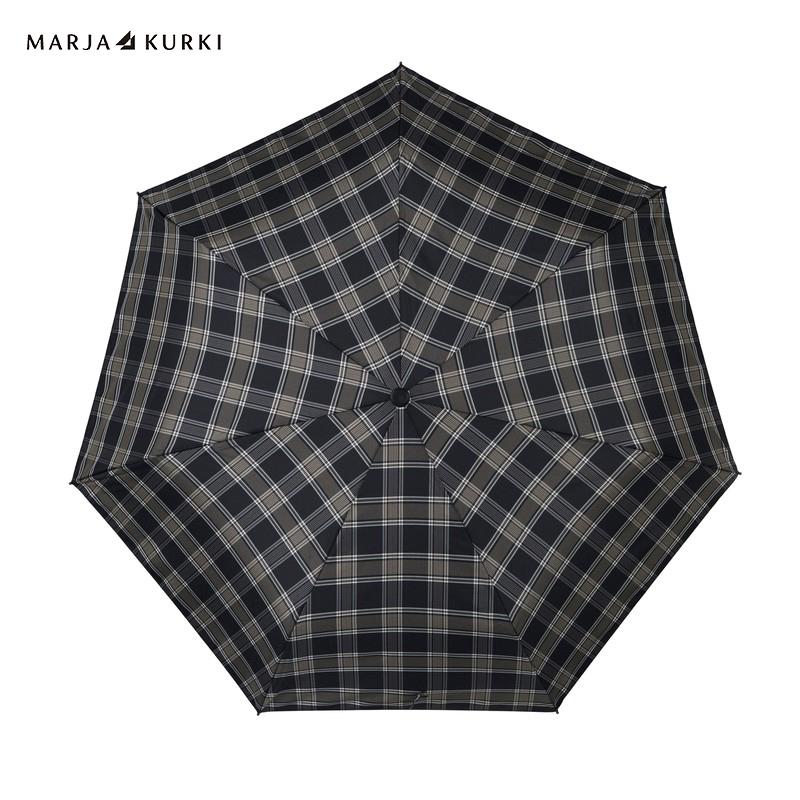 MarjaKurki玛丽亚.古琦 雨伞 三折自动开收伞 棕绿 9DD131898