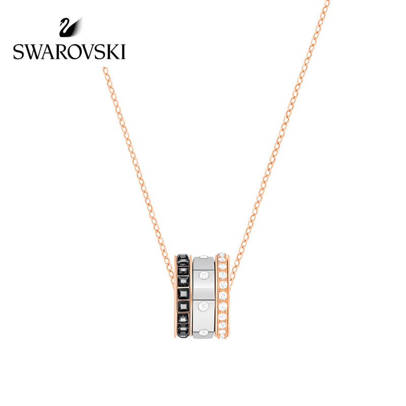 Swarovski/施华洛世奇 HINT 简约现代叠搭混搭锁骨链  镀玫瑰金色 5353666