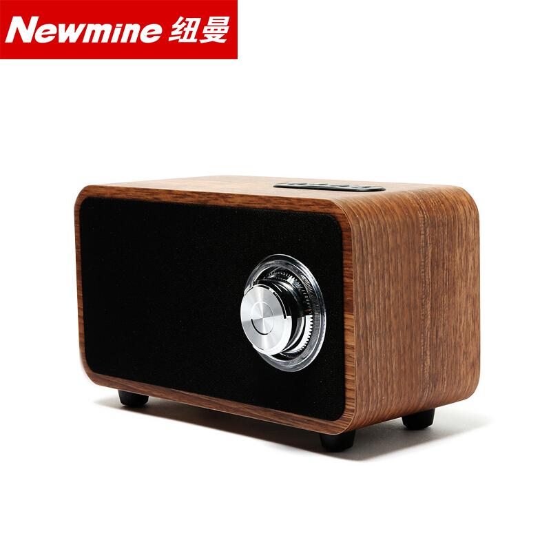 纽曼 (Newmine) MX06 旋钮开关时尚复古木质无线便携蓝牙音箱立体声、重低音桌面音响