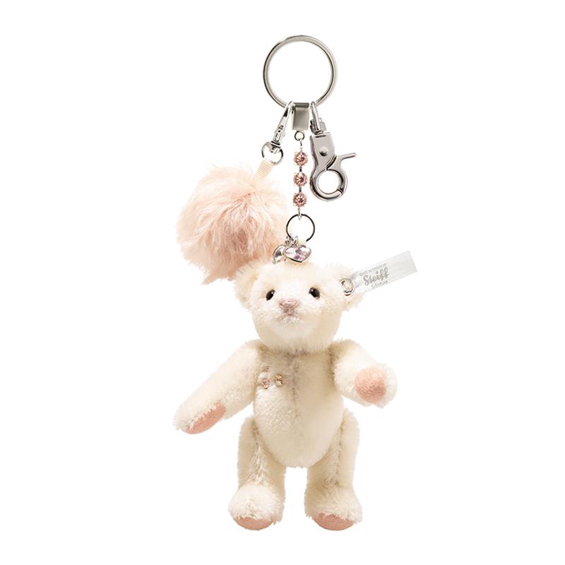 德国Steiff毛绒玩具挂件钥匙链小熊白色 11cm 4001505034657