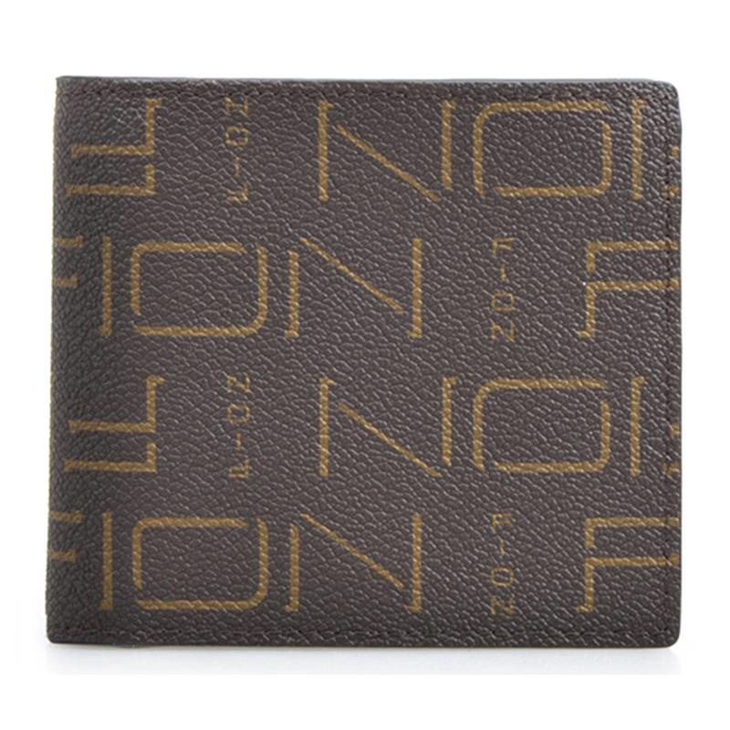 FION 菲安妮 中性款式印花短钱夹钱包
