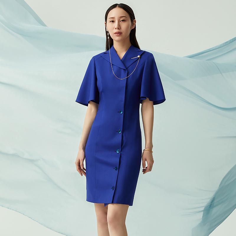 隆庆祥量身定制 21春夏 羊毛时尚气质女士连衣裙