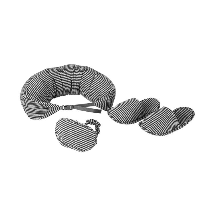 领路者 lz-1123户外旅行三件套 U型枕眼罩拖鞋