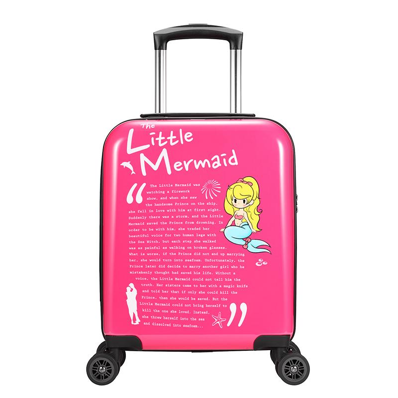 WAAGE GM艺术限定系列 安徒生童话 16寸 PC/ABS 适用人群 女士/儿童 万向轮行李箱旅行箱拉杆箱