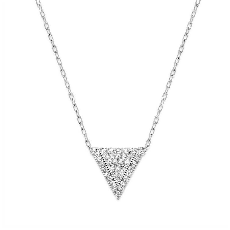 Swarovski/施华洛世奇 Delta 银色三角吊坠项链 5267110