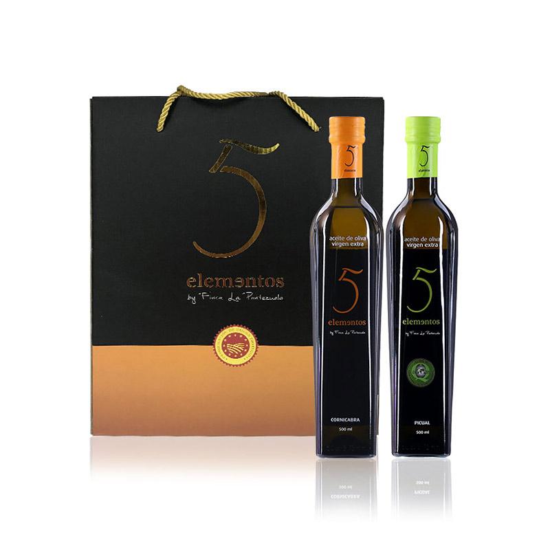 五元素 特级初榨橄榄油礼盒(500ml*2)
