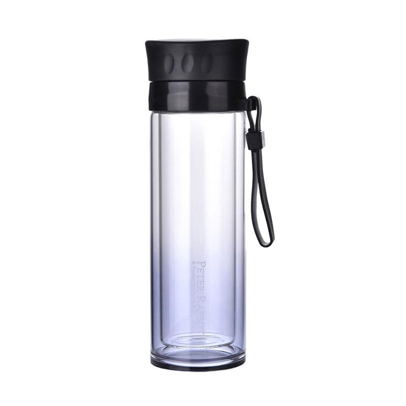 比得兔星钻双层玻璃杯-黑色PR-T960