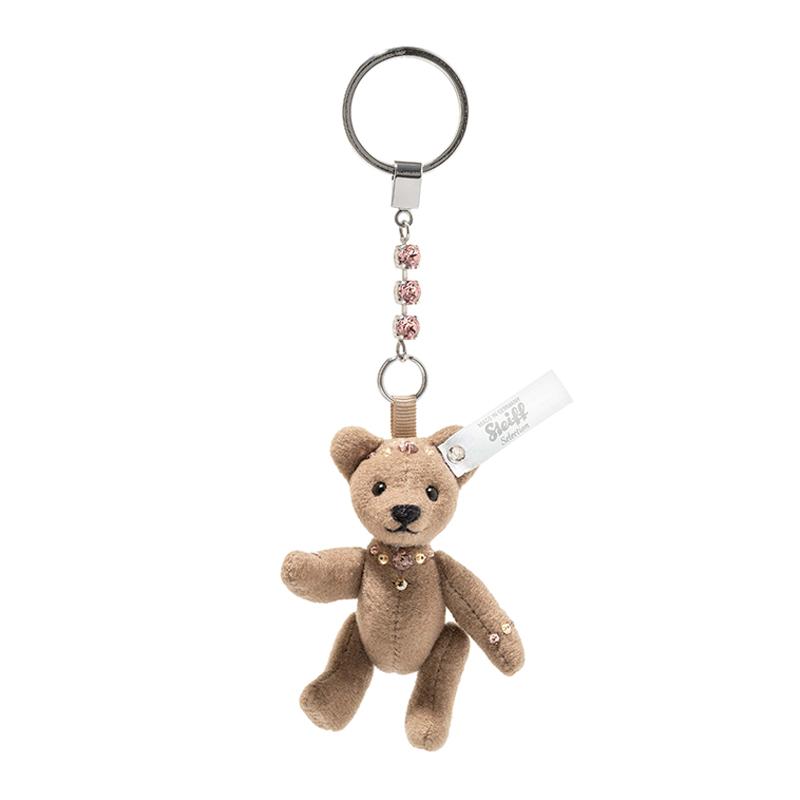 德国Steiff毛绒玩具挂件钥匙链小熊棕色 8cm 4001505034381