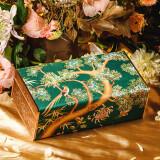 朕的心意故宫食品 中秋月饼礼盒 广式莲蓉蛋黄红豆沙五仁 锦盒吉丽 350g,朕的心意