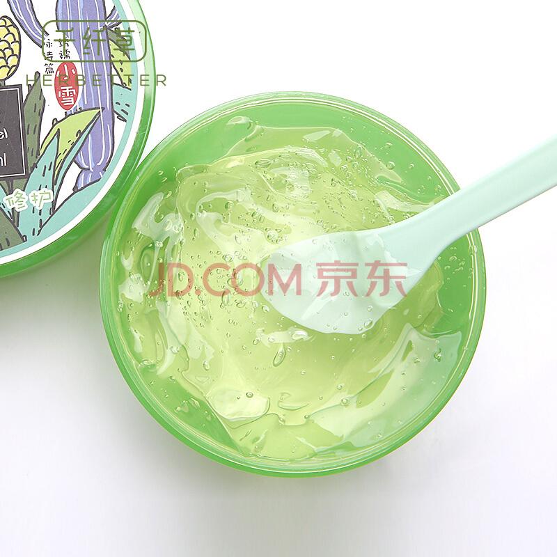 千纤草 芦荟凝胶300ml(乳液面霜 补水保湿 温和不刺激 晒伤修护),千纤草