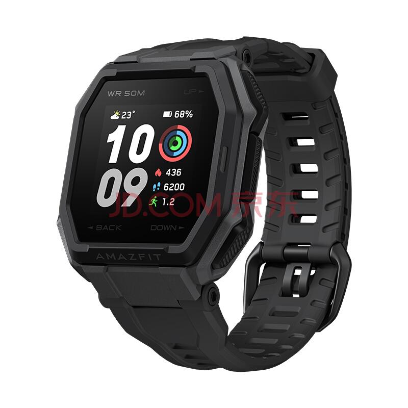 AmazfitAres 智能运动户外手表 华米科技出品 70种运动模式 50米防水 GPS轨迹 多彩反射屏  消息提醒 岩黑色,AMAZFIT