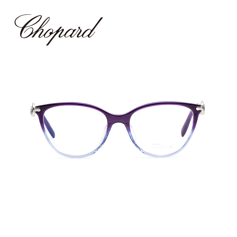 Chopard/萧邦 紫色全框板材渐变设计时尚女士近视光学眼镜VCH238G