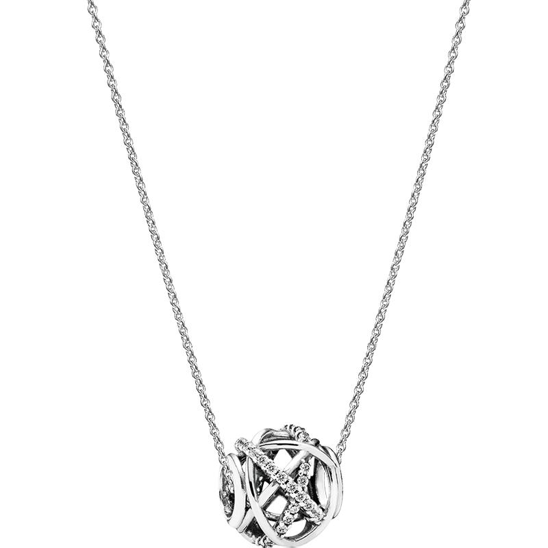 Pandora潘多拉 情人节礼物项链锁骨链女925银闪耀镂空银河B801399 时尚饰品 送女友礼物 送礼佳选