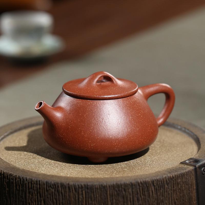 天金窑 宜兴紫砂壶金降坡泥范风云手工制作茶壶功夫茶具家用泡茶壶 石瓢壶 230ml