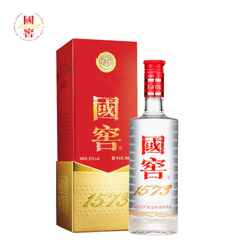 泸州老窖 国窖 1573 52度 浓香型白酒 500ml单瓶装