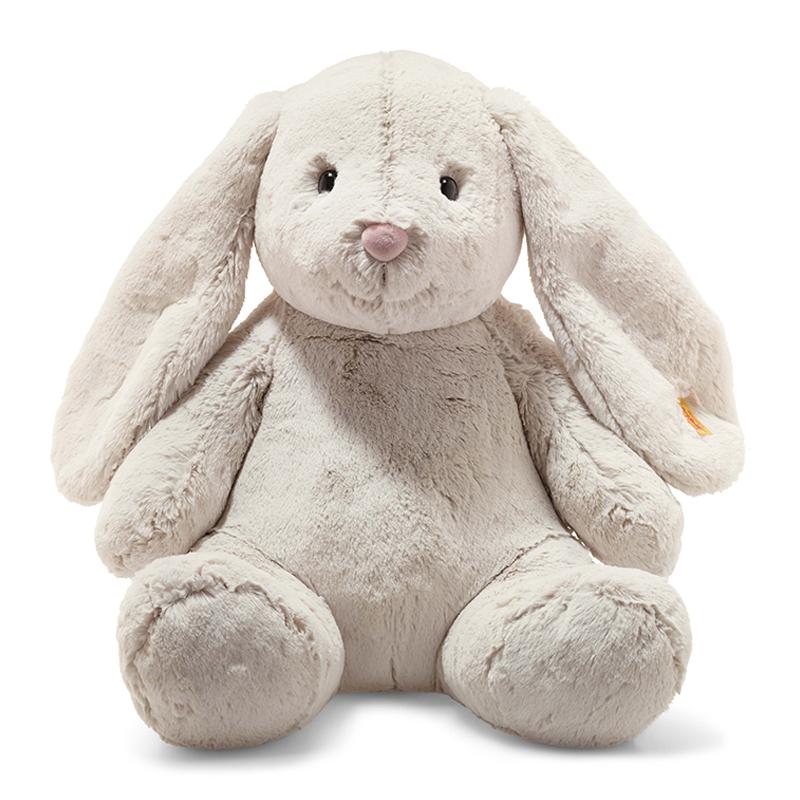 德国Steiff毛绒玩具Hoppie玩具兔浅灰色 48cm 4001505080913