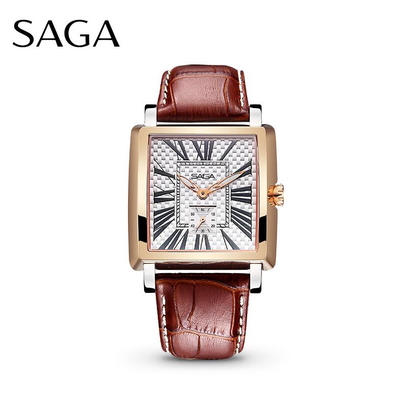 SAGA世家表 品牌正品男士腕表 英伦风潮 石英表手表男  送礼物 进口石英机芯