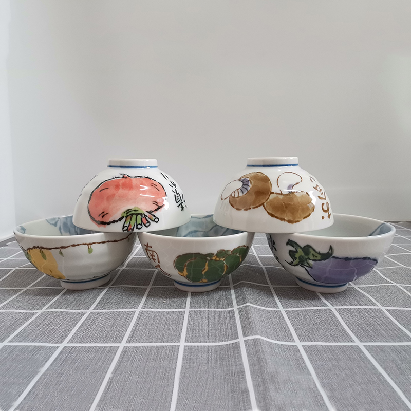 艾罗赫柏 萌菜饭碗五件套陶瓷餐具礼盒套装
