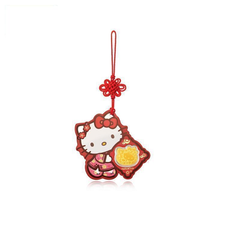臻选周大福Hello Kitty挂坠利是金黄金金币R19956